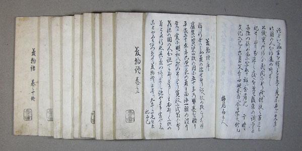 夢物語(飛州) 写本全10冊
